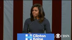 Michelle Obama's Trump speech resonates across Facebook     - CNET  Enlarge Image  Michelle Obama condemns Donald Trumps treatment of women.                                              CBS News screenshot by Alfred Ng/CNET                                            	The first ladys speech on Donald Trump has grabbed the attention of social media.    	Some Facebook users are calling Michelle Obamas speech Thursday in New Hampshire one of the most powerful moments of the 2016 election…