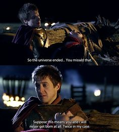"""Rory: """"So the universe ended… You missed that. Suppose this means you and I will never get born at all. Twice in my case."""""""