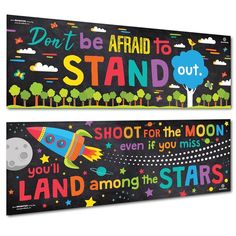 Sproutbrite Classroom Banner and Posters for Decorations - Educational, Motivati Classroom Banner, Classroom Decor Themes, Classroom Posters, Classroom Displays, School Classroom, Board Decoration, Class Decoration, School Decorations, School Themes