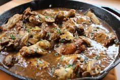 "Jake Smollett: ""My smothered chicken got me like  #ComfortFood Check out the recipe on my blog. Link in bio"""