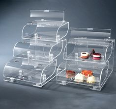 Rosseto® Three-Tier Clear Acrylic Bakery Display Case With Acrylic Stand - BAK1210 | Rosseto