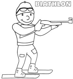 Biathlon Winter Olympics Coloring Pages