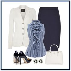 Untitled #843 by gallant81 on Polyvore featuring Oui, Rupert Sanderson, Prada and Karen Millen