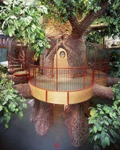 """The Treehouse at the Treehouse Children's Museum in Ogden. Climb up the spiral staircase in the trunk, cross the Adventure Bridge, or scale the Adventure Tower to the Treehouse deck where activities and dress-ups await. Big or small all """"kids"""" love a treehouse!"""