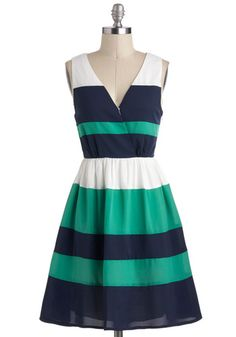 I love the cool, relaxing colors! Pier Into My Dreams Dress, #ModCloth