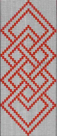 Hardanger Embroidery Patterns warp float knot - A full tutorial for this technique with step-by-step photos and video can be seen here. Here are the charts for two of the projects I presented in the Beyond Bands-Weaving Wide post. The first patt… Bargello Patterns, Tapestry Crochet Patterns, Weaving Patterns, Cross Stitch Borders, Cross Stitch Designs, Cross Stitching, Cross Stitch Patterns, Hardanger Embroidery, Embroidery Stitches
