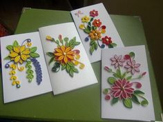 Miniature cards by pinterzsu – Artofit Quilling Videos, Paper Quilling For Beginners, Quilling Comb, Paper Quilling Tutorial, Paper Quilling Flowers, Paper Quilling Cards, Neli Quilling, Paper Quilling Patterns, Quilling Paper Craft
