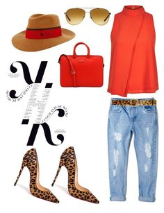 """Untitled #470"" by vernesta ❤ liked on Polyvore featuring MANGO, Christian Louboutin, River Island, MAISON MICHEL PARIS, Alice + Olivia, KAROLINA, Kate Spade and Michael Kors"