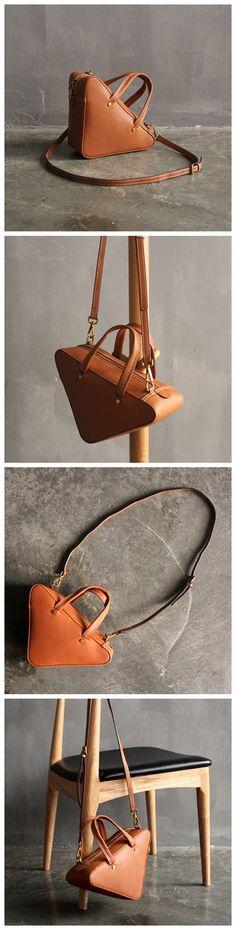 Handmade Top Grain Women's Fashion Leather Handbag Shoulder Bag Small Satchel SL01