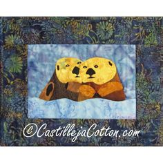 Sea Otter Quilted Wall Hanging  Otter Love by castillejacotton, $19.00