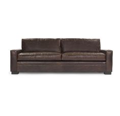 CONRAD LEATHER SOFA<BR>[available online and in stores]