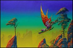 The Roger Dean Gallery is the online home of iconic album cover artist Roger Dean. Browse the galleries, shop fine art prints, original paintings and sketches, or keep up to date with Roger's events and exhibitions in Roger Dean, Dragon Dreaming, 70s Sci Fi Art, Soul Art, Environment Concept Art, Artist Art, Painting & Drawing, Drawing Rocks, Illustrators
