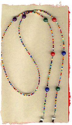Gozluk such - Anja Beaded Jewelry, Handmade Jewelry, Beaded Necklace, Beaded Bracelets, Cool Necklaces, Schmuck Design, Jewelry Crafts, Eyeglasses, Jewelry Design