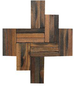 Fantasea - reclaimed wood tile in arrow shape