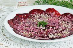 Il carpaccio di rapa rossa è una ricetta semplice, veloce e sfiziosa. Un antipasto crudista,raw, vegan,vegetariano. Perfetto...