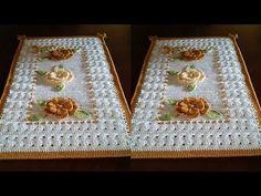 Jogo de Banheiro FLORAL em crochê , tapete pé do vaso - YouTube