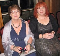 Elaine Roberts and me, at the Romantic Novelists' Association winter party. https://writemindswriteplace.wordpress.com/2015/06/12/its-as-simple-as/