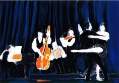 ANDRE BRASILIER http://www.widewalls.ch/artist/andre-brasilier/ #painting