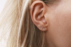 Ball Studs | Delicate Small Sterling Silver Ball Stud Earrings | Helix Piercing | Unusual Stud Earrings | Cartilage piercing | by WildFawnJewellery on Etsy https://www.etsy.com/listing/274108306/ball-studs-delicate-small-sterling