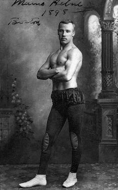 """Marno Helne (sp.?), Boston, 1898"" Possibly a dancer or acrobat?"