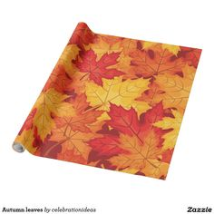 Sell this #autumn #fallseason #leaves #wrappingpaper Check more at www.zazzle.com/celebrationideas