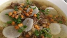 Soto Bandung (Bandung Beef Soup)  Soto Bandung, warm up your day with this very-easy-to make traditional soup that is very popular in Bandung, Indonesia.   Soto Bandung is traditional soup made of beef, daikon radish and spices such as lemongrass...