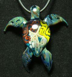 Glass Sea Turtle Necklace - Fireworx Glass