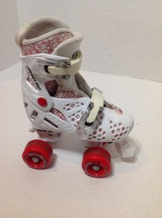 Roller Derby Red Adjustable Trac Star Quad Skate - Child Size 12 - 1 #RollerDerby