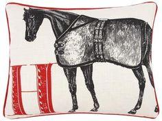 Thomaspaul H Horse Pillow