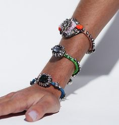 """""""Obsessed with these Shourouk bracelets! It's soooo hard to pick just one color! You can find two hot pink versions here + here ' I Love Jewelry, Jewelry Box, Jewelery, Jewelry Accessories, Fashion Accessories, Jewelry Design, Bullet Jewelry, Jewelry Necklaces, Unique Jewelry"""