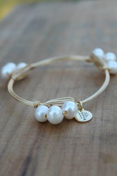 pearl bourbon and boweties bangle