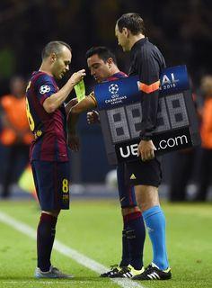 Iniesta and Xavi, 2 captains! @FCBarcelona