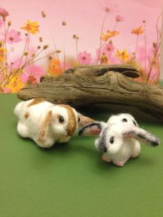 OOAK Baby bunnies Needle felt Artist Easter by weewooleybeasties