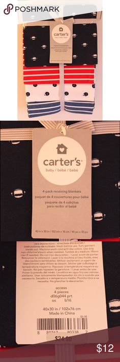 4-Pack Receiving Blankets Brand new Never used Excellent condition No flaws Carter's Other