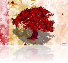 Free animation for digital frame. Red Tree, Animation, Digital, Videos, Frame, Artist, Gifts, Painting, Artists