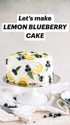 Fun Baking Recipes, Sweet Recipes, Cooking Recipes, Lemon Cake Recipes, Best Lemon Cake Recipe, Summer Cake Recipes, Cake Roll Recipes, Lemon Cakes, Healthy Cake Recipes