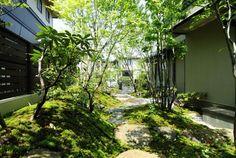 福岡ガーデニング&造園工房~ Modern Japanese Garden, Traditional Japanese House, Japanese Landscape, Japanese Architecture, Landscape Architecture, Landscape Design, Parda, Backyard House, Asian Garden