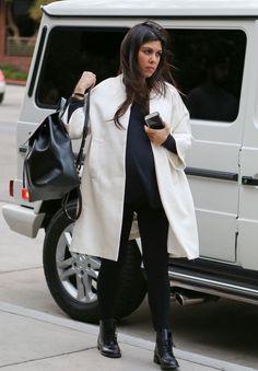 November 17- Kourtney arriving at Kate Mantilini in Woodland Hills