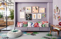 O poder das almofadas estampas. Veja:http://www.casadevalentina.com.br/blog/detalhes/o-poder-das-almofadas-estampadas-3166   #decor #decoracao #interior #design #casa #home #house #idea #ideia #detalhes #details #style #estilo #casadevalentina #estampa #stamp