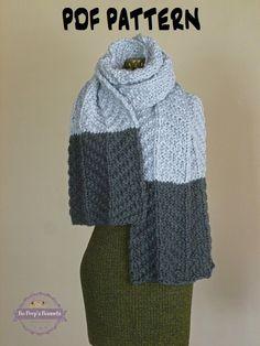 Wide Scarf Knitting Pattern : KNITTING PATTERN Knit Triangle Scarf Knitted Bandana Scarf Pattern Triangle C...