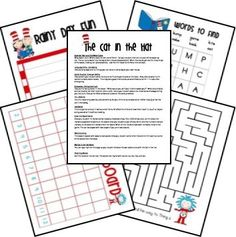 LOTS of FREE Dr. Seuss lesson plans and printables! by mmunozi