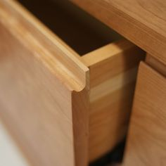 Finger pull drawer: