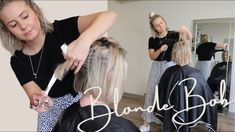 BLONDE BOB - YouTube Blonde Bobs, Blonde Hair, Schwarzkopf Professional, Hair Colour, Color, Bleached Hair, Prom Dresses, Formal Dresses