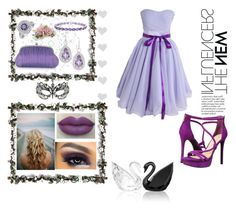 """""""Make it all purple"""" by madhu-147 ❤ liked on Polyvore featuring Jessica Simpson, Masquerade, Julia Cocco', JudeFrances, Bling Jewelry, Swarovski, Lane Crawford and Accessorize"""