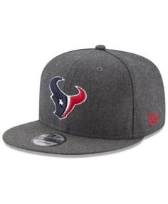 New Era Houston Texans Crafted In America 9FIFTY Snapback Cap - Carbon Heather Adjustable