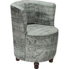 Cooler Sessel im Vintagestil ♥ ab 159,99 € ♥ Hier kaufen: http://stylefru.it/s676058 #vintage #sessel #grau #daheim