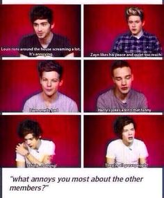 AWWW. HAROLD ♥ everyone is listing something even knock knock jokes and harry goes all sentimental and talks about how great they are just awww