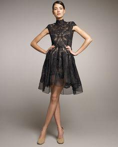 Stella mccartney Lace Full-skirt Dress in Black