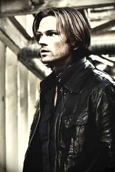 Sam + leather jacket = love