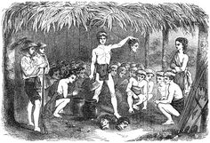 """""""The Brain Feast of the Tinguian Indians,"""" as found in the 1850's book by Paul P. de la Gironiere (Accessible via The Project Gutenberg)Brain Feast of the Tinguian tribe"""